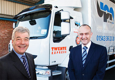 Trevor Paul from Twente Express (l) and Andrew Spencer from UPN (r)