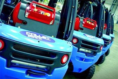 Pallet-Track forklift trucks
