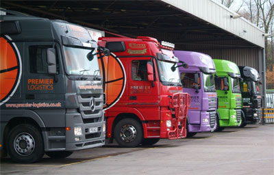 Premier Logistics trucks