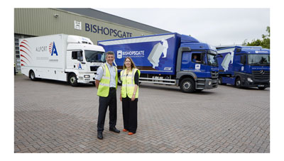 Tim Bloch, MD of Bishopsgate (left) with Maud Armitage (Allport Specialist Services)