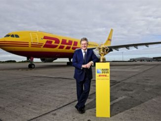 Phil Couchman, CEO, DHL Express with Webb Ellis Cup