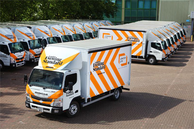London's Evening Standard has chosen a fleet of Fuso Canters from Rygor