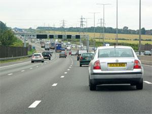 M1 traffic jam