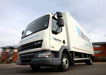 Hermes Services. To find out more about our fully tracked Sunday Delivery service allows 85% of the UK Mainland population to order a parcel on a Saturday for Next Day delivery on a Sunday. All driven from our state of the art Warrington Hub! Hermes' Sunday Delivery Service is designed so your customers can receive those all-important.