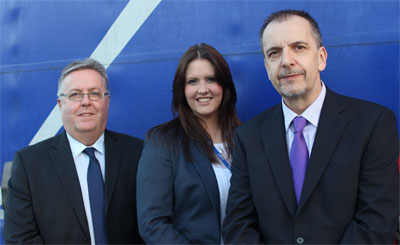 Palletline has recruited Peter Stewart (L), Amy Liston and Peter Carter as its new GM for business development.