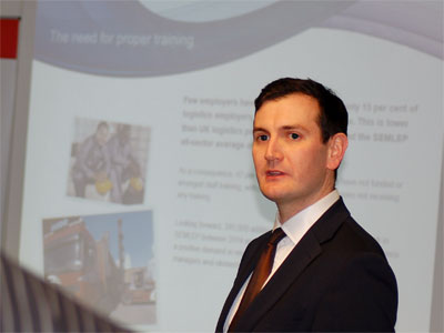 Dr Ross Moloney, CEO of Skills for Logistics