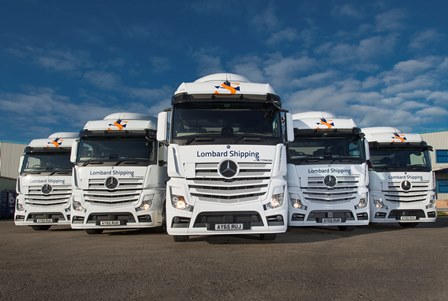 Lombard shipping comes full circle with new actros tractor for Motor cargo freight company
