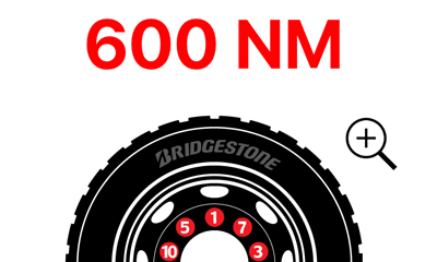 Free Bridgestone app available for HGV wheel nut torque