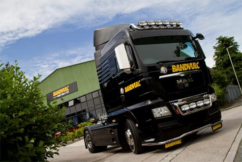 Bandvulc truck