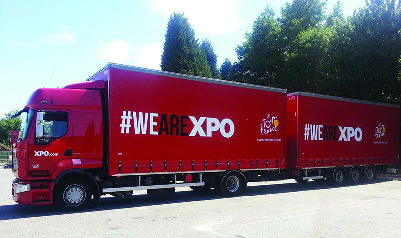 XPO Logistics trailer