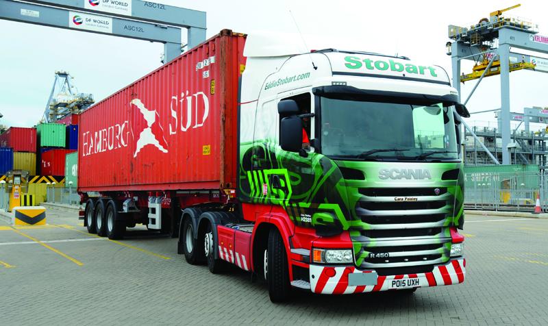 Eddie Stobart container