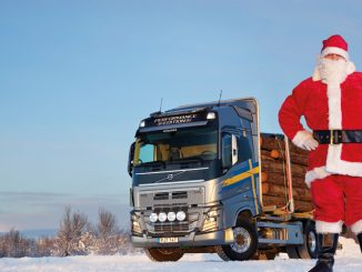 Father Christmas and truck