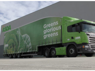 Asda Scania with Cartwright double deck trailer