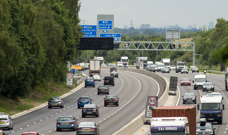 M3 Smart Motorway section