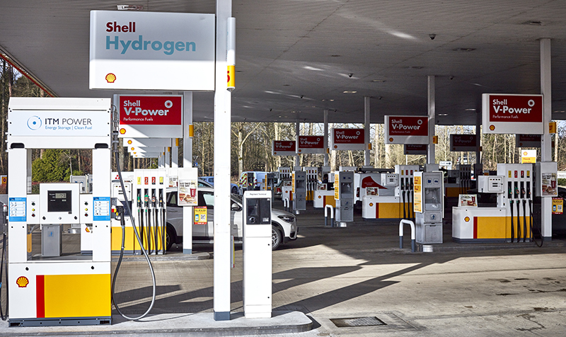 shell opens second uk hydrogen refuelling pump at beaconsfield services motor transport. Black Bedroom Furniture Sets. Home Design Ideas