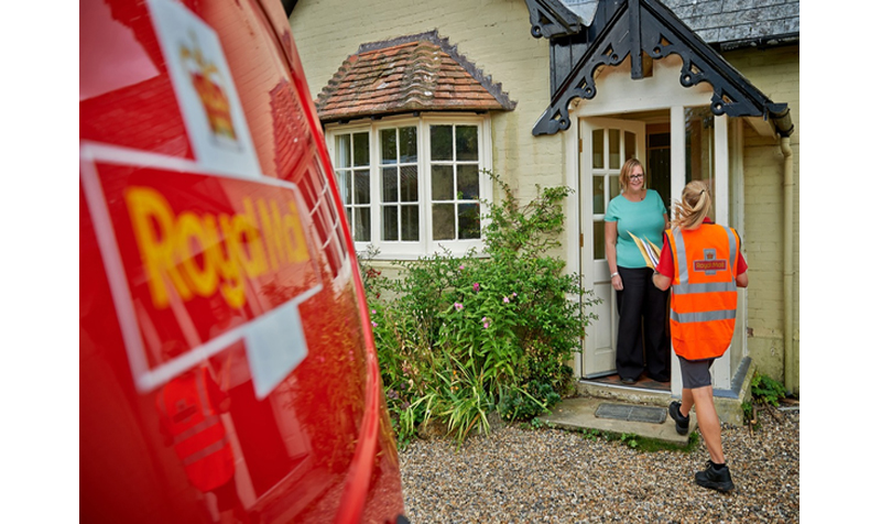 Royal Mail postwoman