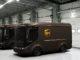 UPS Arrival Trucks