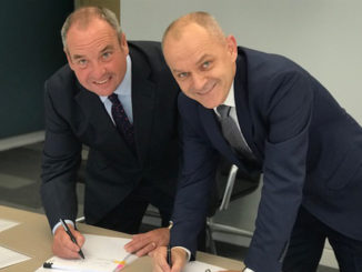 Laurence Marshall, CEO of Lawrence David (left) and Mariusz Golec, CEO of The Wielton Group (right).