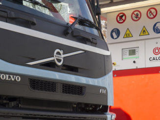 Calor Volvo LNG truck