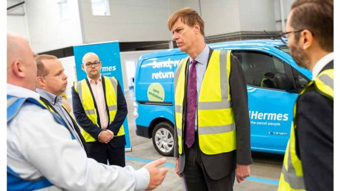 Stephen Timms MP East Ham discusses Hermes electric vans