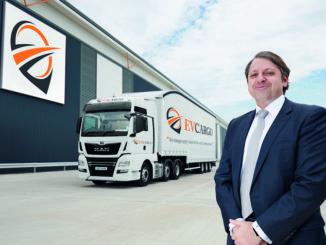 Heath Zarin at launch of EV Cargo