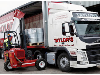 B Taylor & Sons truck being loaded