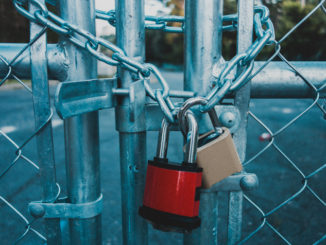 Locks on gate