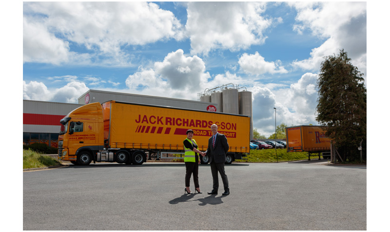 Jack Richards - general manager, Mary Doyle and Jiffy Packaging's MD Richard Gregg