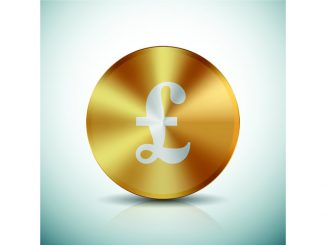 Pound sign on coin