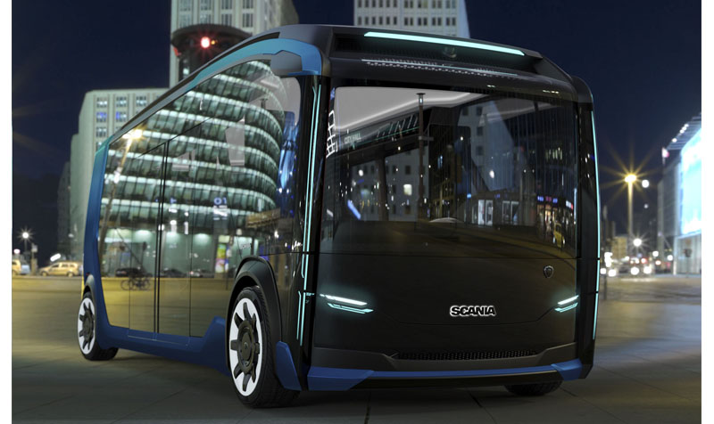 Scania looks to future with autonomous modular urban vehicle