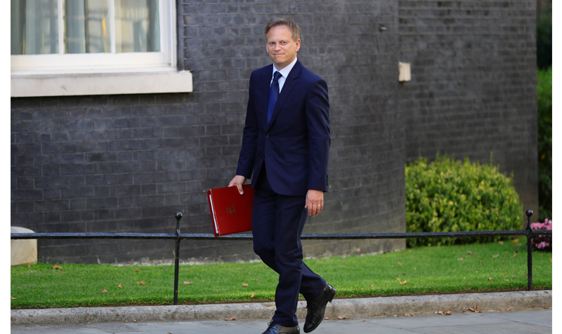 Newly installed Transport Secretary Grant Shapps arrives for a cabinet meeting at 10 Downing Street, London.